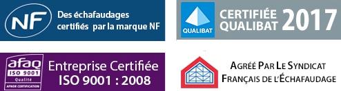 Layher Logos NF, Afaq, Qualibat