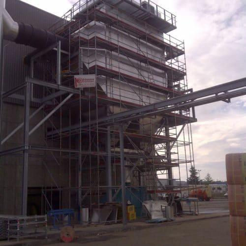 Echafaudage chantier Industrie Airbus